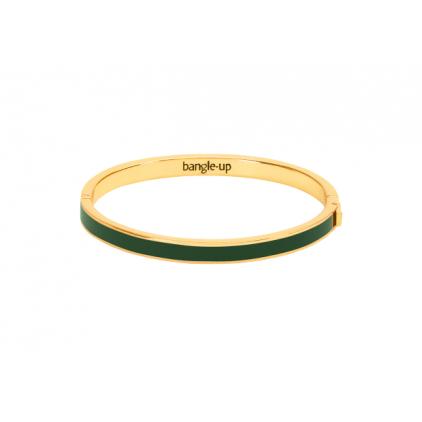 Bracelet Color block avec fermoir métal doré 0,5cm - Vert loup