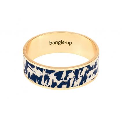 Bracelet Joy métal doré - bleu nuit / blanc sable