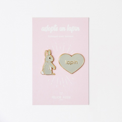 Duo de pin's lapin
