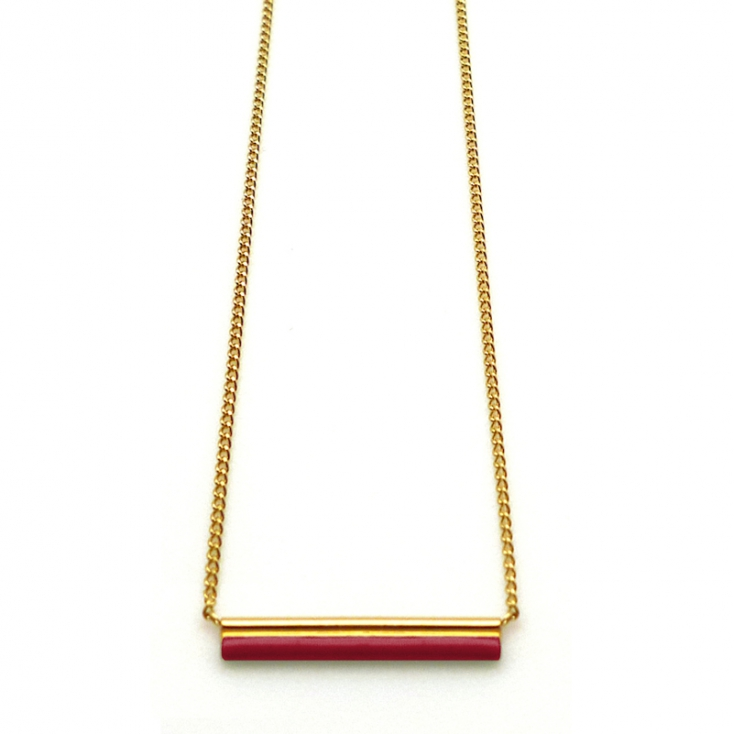 Collier Etincelle chinese red - Nadja Carlotti