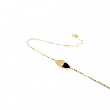 Bracelet chaine Kanuméra - Noir