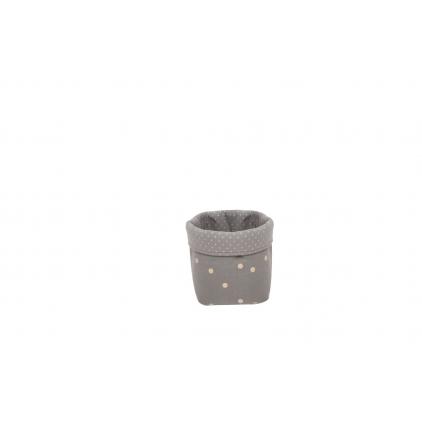 Panier small basket print confetti gris foncé or