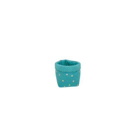 Panier small basket print confetti bleu pétrole/or