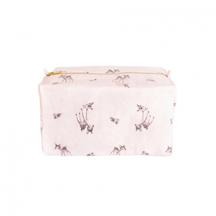 Trousse de toilette Vic imprimé faon - rose