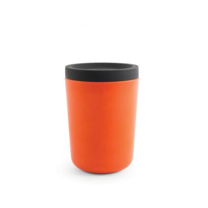 Biobu Go Reusable takeaway cup 350ml - persimmon