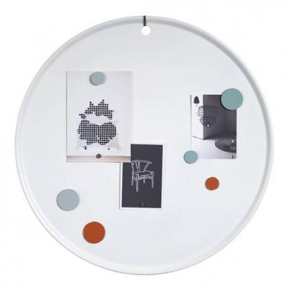 Tableau magnétique rond - blanc