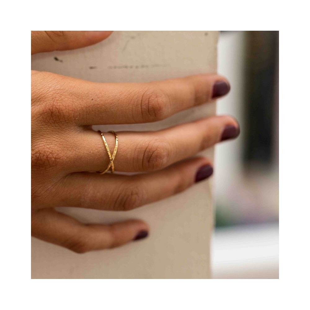 Bague Croisee Taille 54