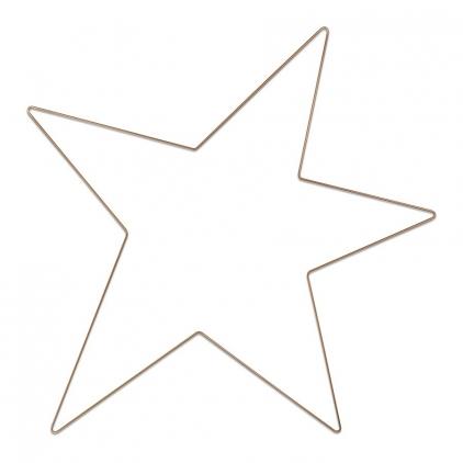 Metal star gold 100cm