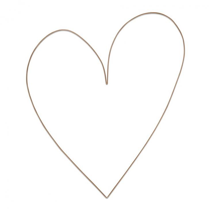 Metal heart gold 100cm