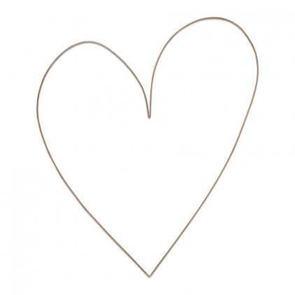 Metal heart gold 70cm
