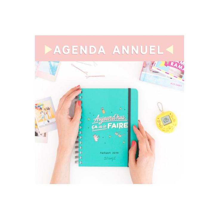 Agenda semainier - Aujourd'hui ça va le faire