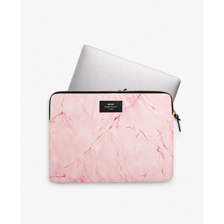 0775531a40 Pochette ordinateur 13 pouces - Pink marble
