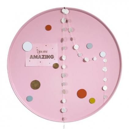 Tableau magnétique rond - rose