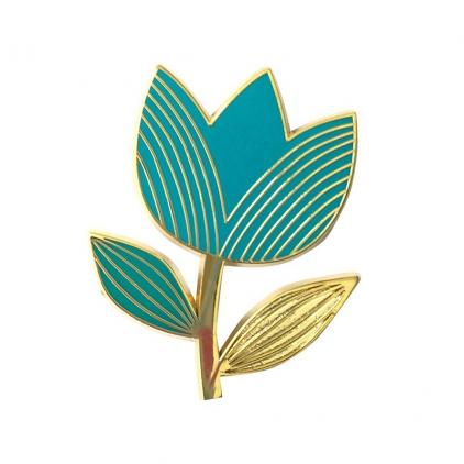 Pin's tulipe turquoise