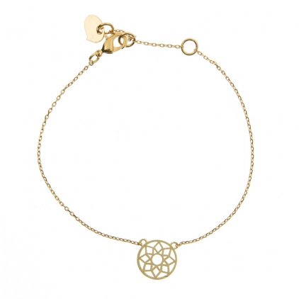 Mandala bracelet, gold plated