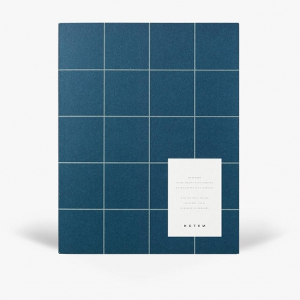 Notebook Uma Flat lay large - Dark blue