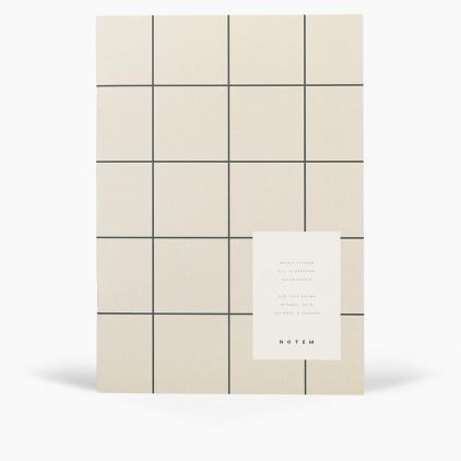 Weekly planner book Milo - Light gray