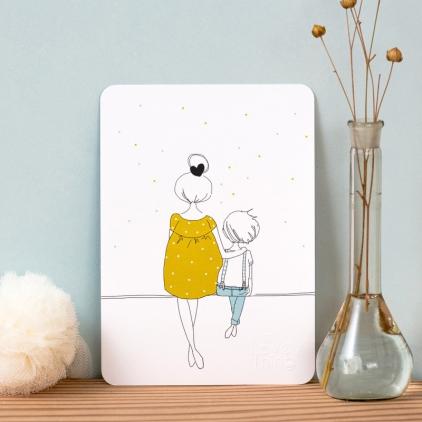 Carte Mum & Boy summer