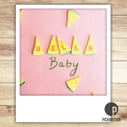 Carte postale Hello baby ZG0313EN