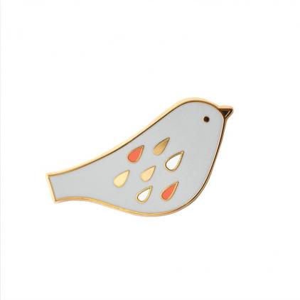 Pin's oiseau perle