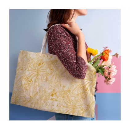 Tote bag amazonie moutarde