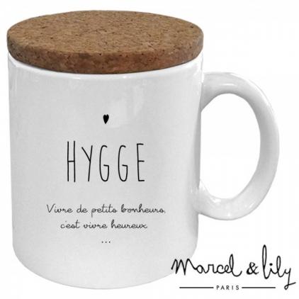 Mug avec son couvercle en liège - Hygge