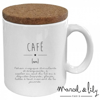 Mug avec son couvercle en liège - Définition café