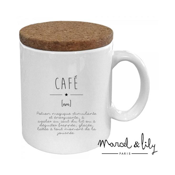 Son Définition Mug Couvercle En Avec Liège Café XZiuOkP