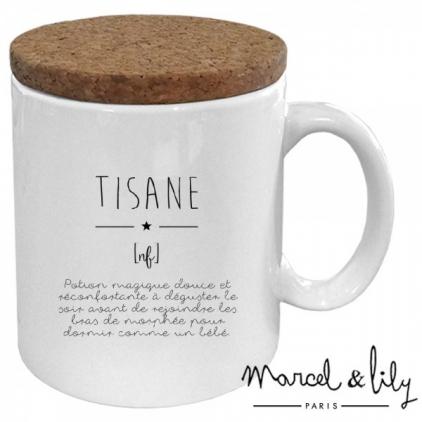 Mug avec son couvercle en liège - Définition tisane