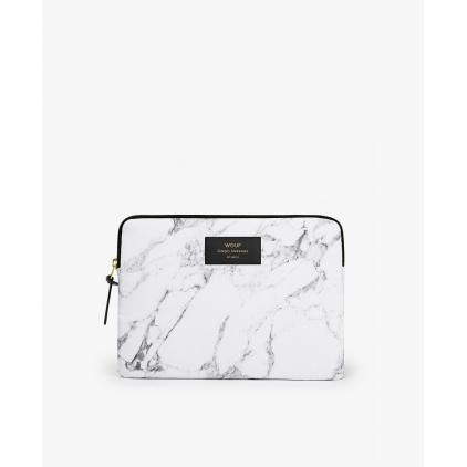 Pochette iPad - White marble