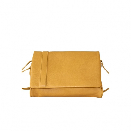 Sac cuir Insolent - Moutarde