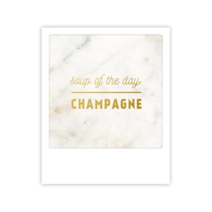 Mini carte postale Soupe du jour Champagne MP0260FR