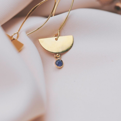 Boucles d'oreilles Léonie saphire - 10546 amulette