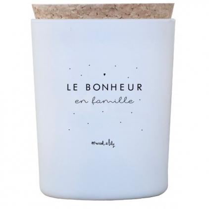 """Bougie """"Le bonheur en famille"""" senteur lavande"""