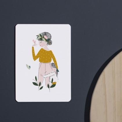 Carte postale Adélaïde moutarde
