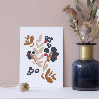 Carte postale Cueillette