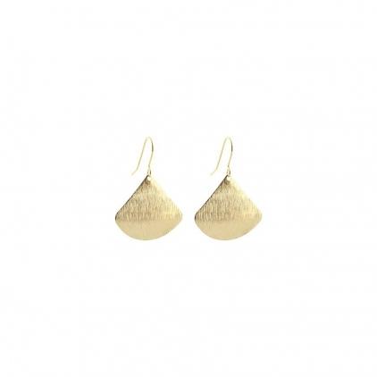 Boucles d'oreilles laiton triangle BOL 035