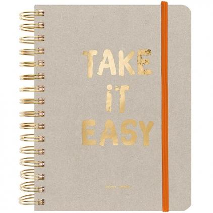 Agenda grand 2020 - Gris Take it easy