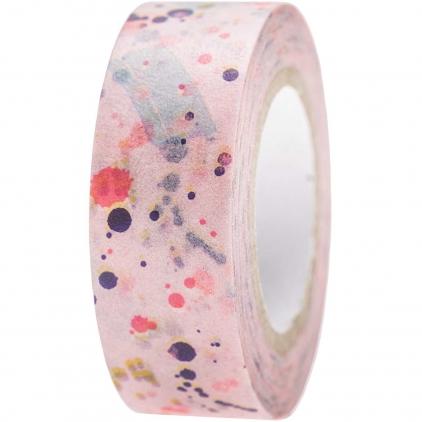 Tape tacheté sur fond rose 78.35
