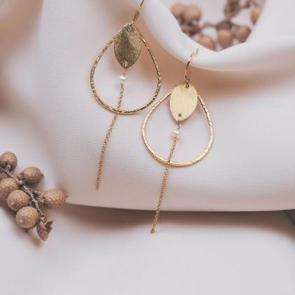 Boucles d'oreilles Louise perle - 10519 amulette