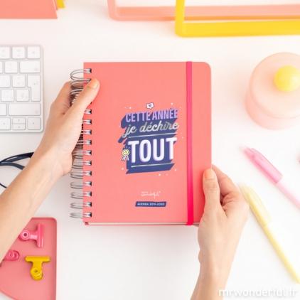Agenda sketch 2019-2020 journalier - Cette année je déchire tout