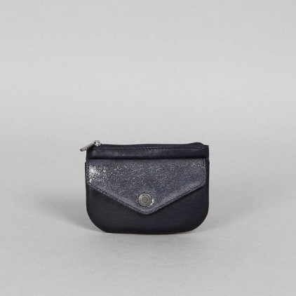 Emmy - portemonnaie cuir vachette Nuit