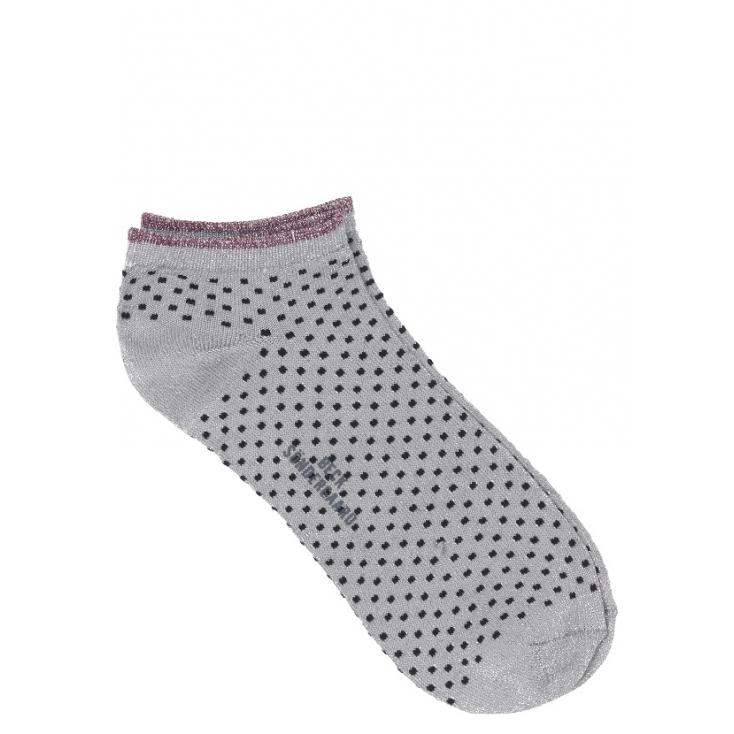 Chaussettes Dollie Dot - Grey melange - red 39-41