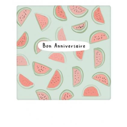 Mini carte postale Melon anniversaire MP0421FR