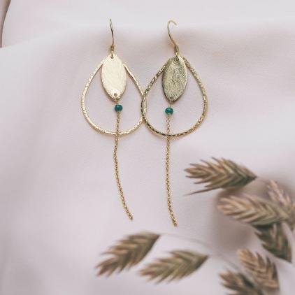 Boucles d'oreilles Louise agate - 10521 amulette