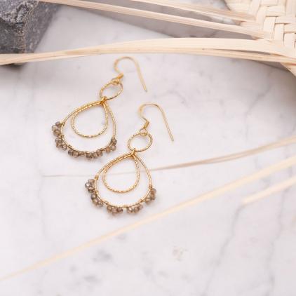 Boucles d'oreilles Camila gris foncé - 10487 Amulette