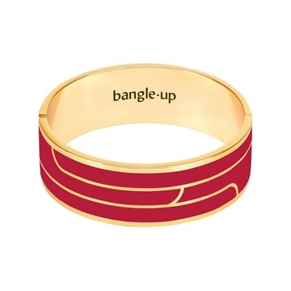 Bracelet Gaya 2cm métal doré- rouge velour