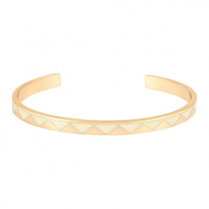 Bracelet Bollystud 0,44 métal doré- blanc sable