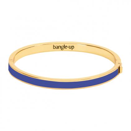 Bracelet Bangle métal doré 0,5cm-bleu clématis