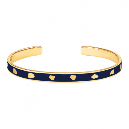 Bracelet Jude métal doré-bleu nuit
